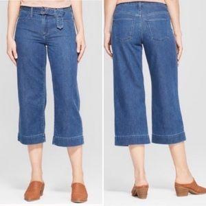 Universal Thread Belted Wide Leg Crop Jeans